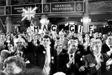 Standing ovation for Margaret Thatcher  Blackpool  1987.
