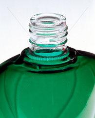 Green  heart-shaped bottle  powder-coated by Azko Nobel  2000.