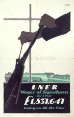 'Wages of Signalmen'  LNER poster  1923-1947.