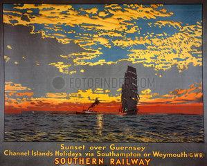 'Sunset over Guernsey'  SR poster  1939.