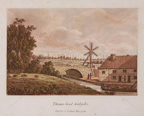 'Thames-head Bridge'  1799.