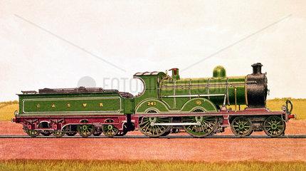 Glasgow and South Western Railway express passenger locomotive  1904.
