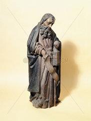 Terracotta statue of St Antonio  Spanish or Italian  early 16th century.