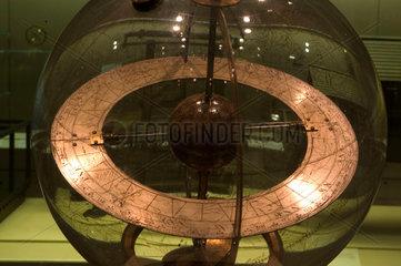 Mechanised glass celestial globe  1742-1750.