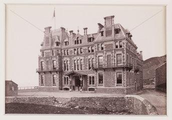 'The Queen's Hotel  Aberystwyth'  c 1880.