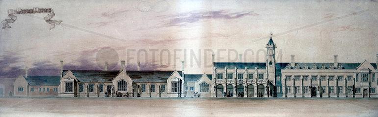 Carlisle Station  Cumbria  mid 19th century.