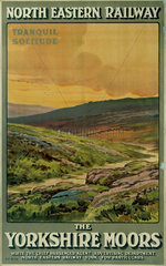'The Yorkshire Moors'  NER poster  c 1910.