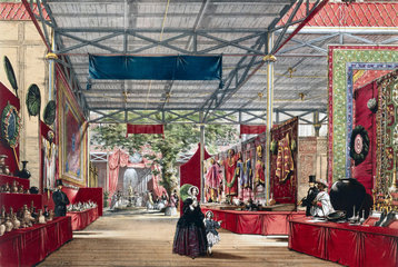 Indian No 7 stand at the Great Exhibition  Crystal Palace  London  1851.