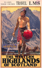 'The Western Highlands of Scotland'  LMS poster  c 1930s.