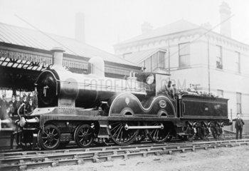 Locomotive number 1093  c 1880.