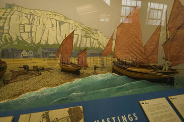 Boats at Hastings  Shipping Gallery  Science Museum  London  2007.