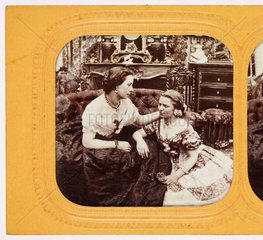 Two women  c 1875 .