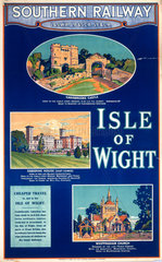 'Isle of Wight  Southern Railway poster  1923.