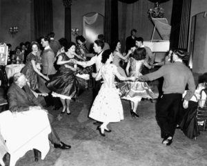 Jive dancing  1957. 'Dancing on 'Christ in