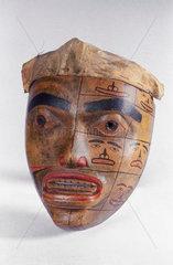 Carved wooden mask  Haida  Canada.
