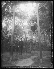 'Pauline Swinging'  1898.