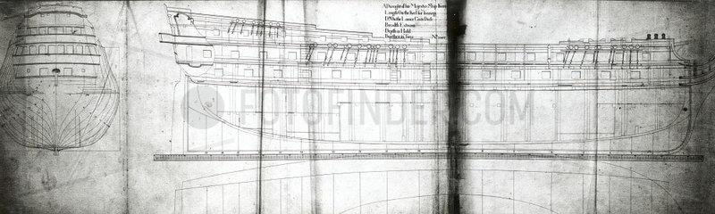 'Formidable' 80-gun draught  1759.