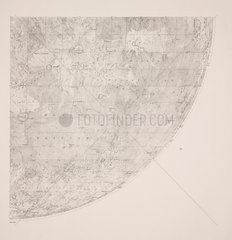 Nortwest quadrant of Beer & Madler Moon map  1834.