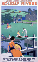 'Holiday Rivers'  LNER poster  c 1930s.