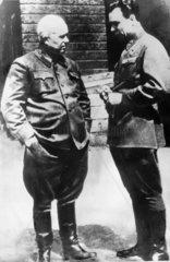 Khrushchev and Brezhnev  1943.