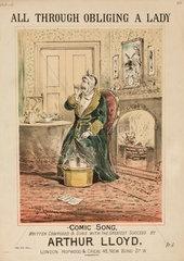 'All Through Obliging a Lady'  19th century.