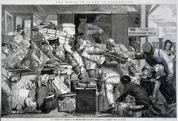 'Break of Gauge at Gloucester'  Gloucestershire  6 June 1846.