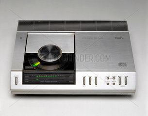 Early compact disc player  1983.