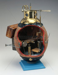 Model of submersible 'Turtle'  1776.