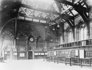 St Pancras Station Booking Hall  c 1900. St