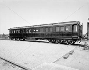 LNWR Royal dining car 76  c 1920s.