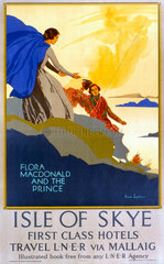 'Flora MacDonald and the Prince'  LNER poster  1923-1947.