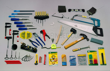 Selection of workman's tools  1999.