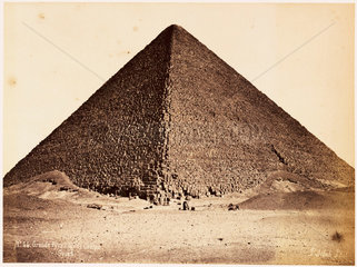'Great Pyramid of Gezeh'  c 1880.