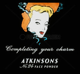 'Completing your charm'  face powder advertisement  1930-1940.