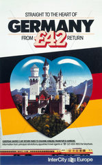 'Straight to the Heart of Germany'  British Rail poster  c 1980s.