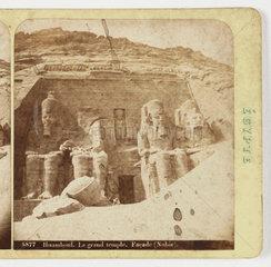 'Ibsamboul  Le grand temple  Facade (Nubie)'  1875.