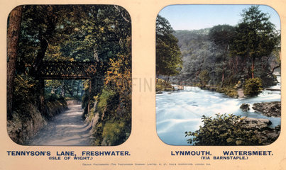 Tennyson's Lane  Isle of Wight and Lynmouth  Devon  1910s.