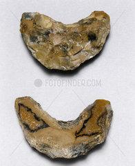 Two flint drill heads  Egypt  c 3000 BC.