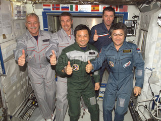 International Space Station crews 10 and 11  April 2005.