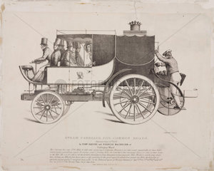 'Steam Carriage for Common Roads'  1833.