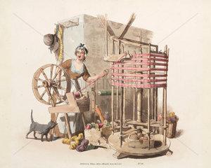 'Worsted-winder'  1808.