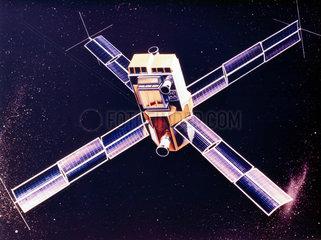 Artist's impression of the Small Astronomical Satellite (SAS) 3  1975.