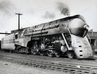 J-3a 'Hudson' New York Central 4-6-4 steam locomotive No 5447  1941.
