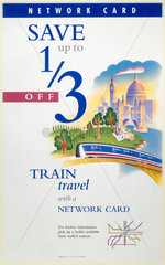 Save up to one third with a Network Card'  BR poster  c 1990s.