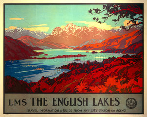 'The English Lakes'  LMS poster  1923-1947.
