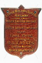First Prize Shield  1924. London  Midland a