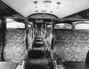 Interior of a Lancashire and Yorkshire Rail