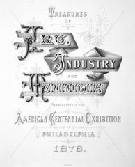 Title page from 'Treasures of Art  Industry and Manufacture'  1876.