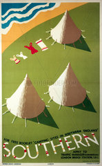 'Camping Sites in Southern England'  SR poster  1935.