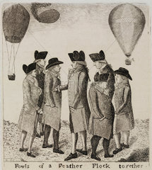 'Fowls of a Feather Flock Together'  1785.